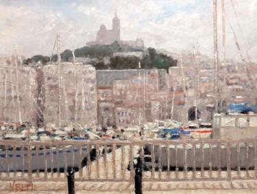 Notre Dame de la Garde vue du vieux port de Marseille